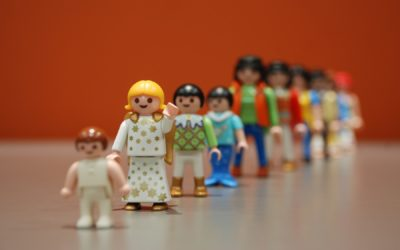 Muñecos y otros elementos en consulta individual